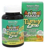 Image of Nature's Plus - Animal Parade Children's Tummy Zyme Natural Tropical Fruit Flavor - 90 Chewable Tablets