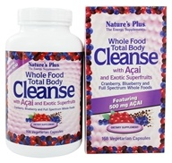Nature's Plus - Whole Food Total Body Cleanse With Acai & Exotic Superfruits - 168 Vegetarian Capsules, from category: Detoxification & Cleansing