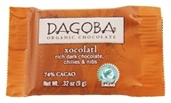 Image of Dagoba Organic Chocolate - Tasting Squares Dark Chocolate Xocolatl 74% Cacao - 0.32 oz.