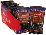 SunSpire - Organic Dark Chocolate Almonds - 1.19 oz. by SunSpire