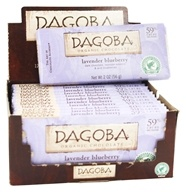 Dagoba Organic Chocolate - Bar Dark Chocolate Lavender Blueberry 59% Cacao - 2 oz. by Dagoba Organic Chocolate
