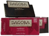 Dagoba Organic Chocolate - Bar Dark Chocolate Roseberry 59% Cacao - 2 oz.