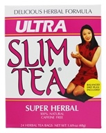 Hobe Labs - Ultra Slim Tea 100% Natural Caffeine Free Super Herbal - 24 Tea Bags