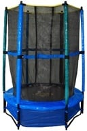 Image of Pure Fun Trampolines - Kid's Trampoline Set with Enclosure and Safety Net 9005TS - 55 in.