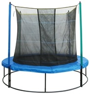Image of Pure Fun Trampolines - Trampoline Set with Enclosure and Safety Net 9008TS - 8 ft.