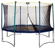 Image of Pure Fun Trampolines - Trampoline Set with Enclosure and Safety Net 9012TS - 12 ft.