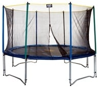 Pure Fun Trampolines - Trampoline Set with Enclosure and Safety Net 9012TS - 12 ft., from category: Exercise & Fitness
