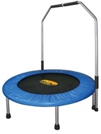 Image of Pure Fun Trampolines - Mini Trampoline with Handrail 9005MTH - 40 in.