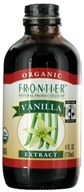 Image of Frontier Natural Products - Organic Extract Vanilla - 4 oz.