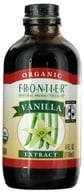 Frontier Natural Products - Organic Extract Vanilla - 4 oz. - $9.04