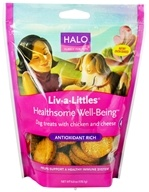 Halo Purely for Pets - Liv-A-Littles Healthsome Well-Being Antioxidant Rich Dog Treats Chicken & Cheese - 6 oz.