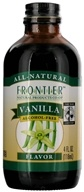 Image of Frontier Natural Products - All-Natural Alcohol-Free Flavor Vanilla - 4 oz.