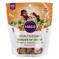Halo Purely for Pets - Liv-A-Littles Healthsome Dog Biscuits Vegetarian Gluten-Free Peanut 'N Pumpkin - 8 oz. (745158901204)
