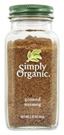 Simply Organic - Ground Nutmeg - 2.3 oz. (089836187666)