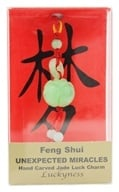 Zorbitz - Chinese Feng Shui Hand Carved Jade Luck Charm Unexpected Miracles Lotus Flower