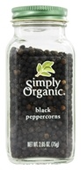 Simply Organic - Black Peppercorns - 2.65 oz. (089836185242)