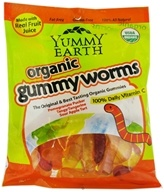 Image of Yummy Earth - Organic Sour Gummy Worms - 5 oz.