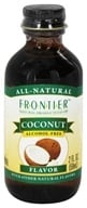 Frontier Natural Products - All-Natural Alcohol-Free Flavor Coconut - 2 oz. by Frontier Natural Products