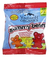 Yummy Earth - Organic Gummy Bears Snack Pack - 0.9 oz.