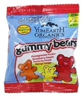 Image of Yummy Earth - Organic Gummy Bears Snack Pack - 0.9 oz.