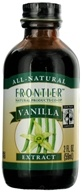 Frontier Natural Products - All-Natural Extract Vanilla - 2 oz.