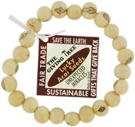 Image of Zorbitz - The Giving Tree Lucky Acai Seeds Bracelet Ivory Unexpected Miracles
