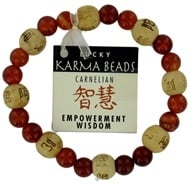 Zorbitz - Karmology Lucky Karma Beads Bracelet Carnelian Empowerment Wisdom, from category: Gift Ideas