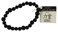 Image of Zorbitz - Karmalogy Lucky Karma Beads Bracelet Onyx Black Power Success