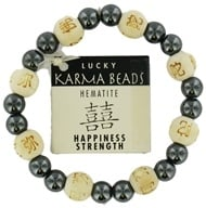 Zorbitz - Karmalogy Lucky Karma Beads Bracelet Hematite Natural Happiness Strength (689076515825)