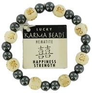 Image of Zorbitz - Karmalogy Lucky Karma Beads Bracelet Hematite Natural Happiness Strength