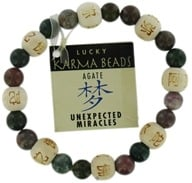 Image of Zorbitz - Karmalogy Lucky Karma Beads Bracelet Agate Unexpected Miracles