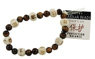 Zorbitz - Karmalogy Lucky Karma Beads Bracelet Tiger's Eye Protection Balance (689076517225)