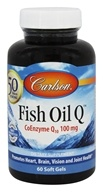 Image of Carlson Labs - Norwegian Fish Oil Q CoEnzyme Q10 100 mg. - 60 Softgels