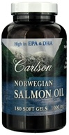 Carlson Labs - Norwegian Salmon Oil 1000 mg. - 180 Softgels (088395015014)