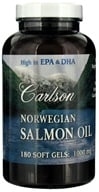 Carlson Labs - Norwegian Salmon Oil 1000 mg. - 180 Softgels by Carlson Labs