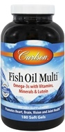 Carlson Labs - Norwegian Fish Oil Multi Plus Lutein Iron-Free - 180 Softgels - $43.80