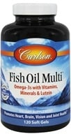 Carlson Labs - Norwegian Fish Oil Multi Plus Lutein Iron-Free - 120 Softgels (088395015816)