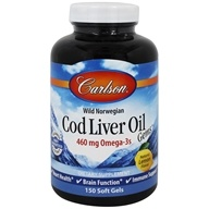 Image of Carlson Labs - Norwegian Cod Liver Oil Lightly Lemon 1000 mg. - 150 Softgels