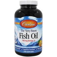 Carlson Labs - The Very Finest Norwegian Fish Oil Orange Flavor 1000 mg. - 240 Softgels (088395016424)
