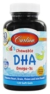 Image of Carlson Labs - Carlson For Kids Chewable DHA Bursting Orange Flavor - 120 Softgels
