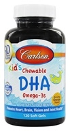 Carlson Labs - Carlson For Kids Chewable DHA Bursting Orange Flavor - 120 Softgels - $14.22