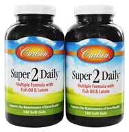 Carlson Labs - Super 2 Daily Vitamins & Minerals With Fish Oil & Lutein Iron-Free Twin Pack (088395040559)