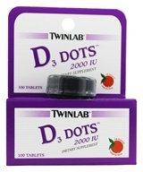 Twinlab - Vitamin D3 Dots All Natural Tangerine 2000 IU - 100 Tablets (027434036658)
