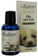 Nature's Inventory - Wellness Oil 100% Organic Flea and Tick Formula For Dogs - 2 oz., from category: Aromatherapy