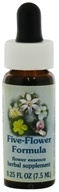 Image of Flower Essence Services - Healing Herbs Dropper Five-Flower Formula - 0.25 oz.