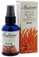 Nature's Inventory - Wellness Oil Organic Neck & Shoulder Rub - 2 oz. CLEARANCE PRICED