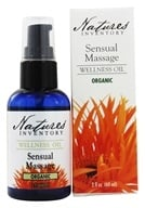 Image of Nature's Inventory - Wellness Oil Organic Sensual Massage - 2 oz.