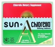Sun Chlorella - Dietary Chlorella Supplement A 500 mg. - 120 Tablets (029918015111)