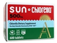 Sun Chlorella - Dietary Chlorella Supplement A 500 mg. - 600 Tablets