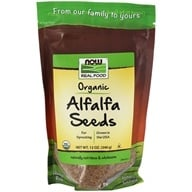 NOW Foods - Alfalfa Seeds For Sprouting Certified Organic - 12 oz., from category: Health Foods